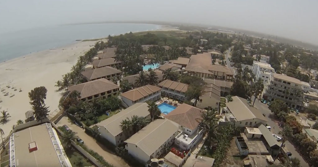 Gambia White Sand Beach Front West Africa